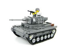 Custom World War 2 German Panzer IV  Tank complete set made w/ real LEGO(R) #LEGO
