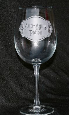 AntiAging Potion Wine Glass