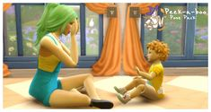 Peek-A-Boo Pose Pack~Included: poses) - 5 adult/toddler poses - 5 child/toddler poses Notes: *Toddler's expressions are largely the same but the line of sight matches the child height so there are. Toddler Poses, Sims 4 Toddler, Peek A Boos, Princess, Kid Poses, Princesses