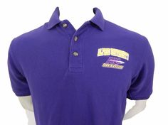 Alfred University Saxons Polo Shirt Size M Embroidered Logo AU New York  #ClubColours #PoloRugby