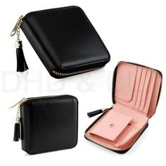Condition: New with tags Style: Mini Wallet Model: Small Wallet Card Holder Zip Coin Purse Material: Faux Leather Features: Organizer;; Zip-Around
