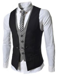 TheLees Mens premium layered style slim vest waist coat $34