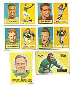 1950's Philadelphia Eagles Football Cards