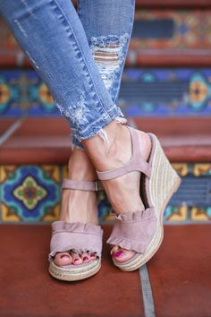 Vintage Hollow-out Closed Toe Wedges Sandals Filler Heel Slippers Strap Heels, Wedge Sandals, Fringe Sandals, Studded Heels, Casual Heels, Knee High Boots, High Heels, Shoes Heels, Hot Shoes