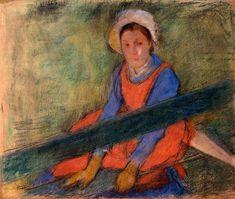 The Athenaeum - Woman Seated on a Bench (Edgar Degas - )