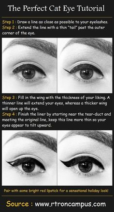 How to apply liquid liner for the perfect cat eye! Meow!