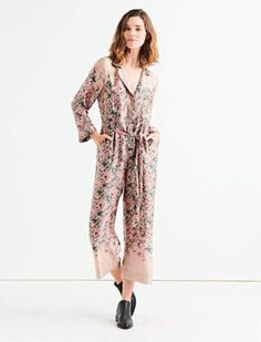 a628a21c43f Lucky Brand FADED FLORAL JUMPSUIT Floral Jumpsuit