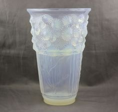 Sabino Art Glass Algues Marine Large  Vase V144