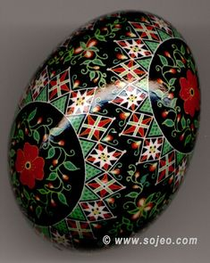 Red Poppies Pysanka Ukrainian Style Easter Egg | Flickr - Photo Sharing!