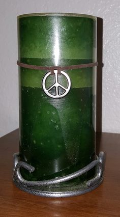 Candle With Peace Sign Charm