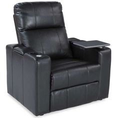 Larsen Black Power Recliner wi