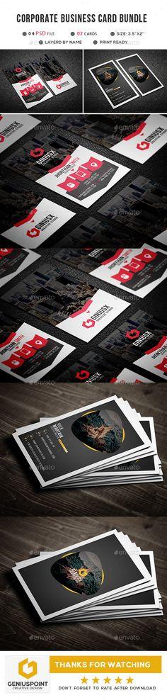 #Corporate #Business #Card Bundle - Corporate Business Cards