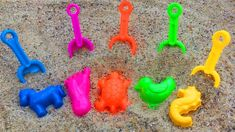 Funny Songs Nursery Rhymes Presents Play with Rainbow Shovels Toys and Animals Sand Molds Funny Songs, Learning Colors, Coloring For Kids, Nursery Rhymes, Presents, Rainbow, Make It Yourself, Play, Toys