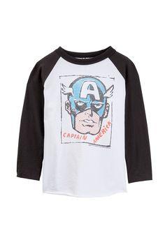 Captain America Long Sleeve Tee (Toddler Boys)