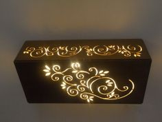 MDF light... idea for lighting inlays or cutouts