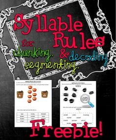 FREE, 2 kid-friendly syllable rule practice pages