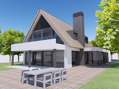 Building Design Architectuur Garden Architecture, Residential Architecture, Building Design, Building A House, Bungalow Extensions, Villa, Modern Barn, Architect House, Industrial House