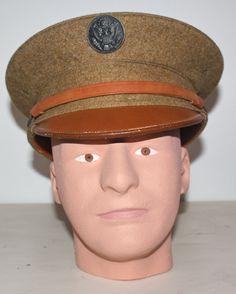 a121419c01b US M1910 enlisted man s visor hat Visor Hats