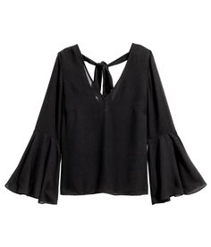 Blouse with Trumpet Sleeves   H&M Divided