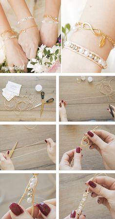 Die 8 besten Bilder von Brautjungfer armband  Wedding