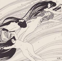 Gustav Klimt (1862-1918, Austria) | Fish Blood, 1898 (private collection)