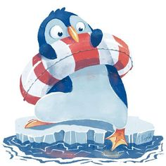 Little Penguin - Illustrations Illustrations for Kids Portfolio animals colour collective cute maritime sea summer winter - by Simone Krüger