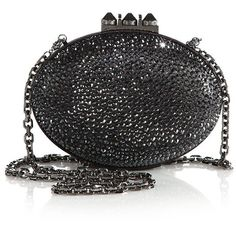 Christian Louboutin Mina Embellished Suede Burma Clutch ($3,130) ❤ liked on Polyvore featuring bags, handbags, clutches, christian louboutin, apparel & accessories, hermatite, embellished handbags, christian louboutin purse, evening handbags and special occasion clutches