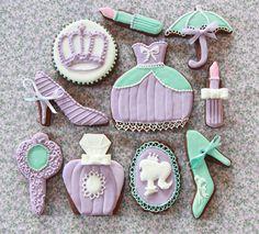 Galletas princesa violetas