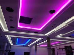 Decke mit Wandleisten für LED + RGB Strips