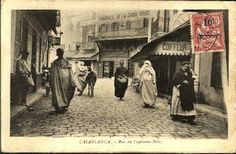Street scene from Casablanca's Medina (Old Town). This is a street Kurt and Sarah might have traveled when they went in search of double agents and a murder. Casablanca, Morocco Travel, Tour Operator, Group Tours, Travel Tours, Beach Holiday, Tour Guide, Marrakech, Rue