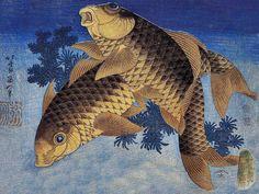 Two Fish by Katsushika Hokusai (1760–1849)