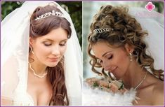 Wedding hairstyles with a long veil 2015 - photos
