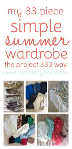 I'm going full-on Project 333 with my summer wardrobe! 33 pieces total - clothes, shoes, accessories, etc. - for 3 months!