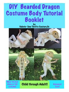 DIY Bearded Dragon Costume PDF Sewing Pattern and Tutorial Booklet by SewThriftyCoutureLLC on Etsy https://www.etsy.com/listing/544161919/diy-bearded-dragon-costume-pdf-sewing