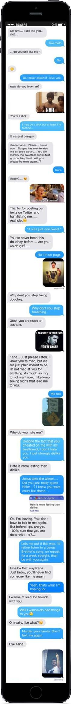 The Man Who Broke Up With His Cheating Girlfriend via Memes