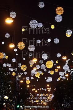 Christmas lights and decorations in Oxford Street in London
