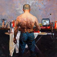 ✅ Buy the Artwork 'The man' by Evgeniy Monahov : Painting Oil on Canvas - ➽ Free Delivery ➽ Secure Payment ➽ Free Returns Figure Painting, Painting & Drawing, Portrait Art, Portraits, Industrial Wall Art, Classical Realism, Arte Sketchbook, Queer Art, Foto Art