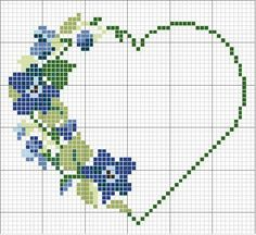 counted cross stitch for beginners Wedding Cross Stitch, Mini Cross Stitch, Cross Stitch Heart, Cross Stitch Flowers, Counted Cross Stitch Patterns, Cross Stitch Designs, Embroidery Hearts, Cross Stitch Embroidery, Embroidery Patterns