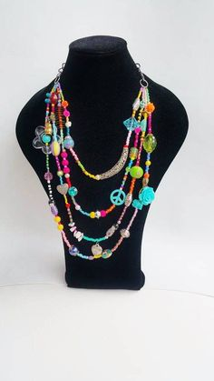 Big Necklaces, Statement Necklaces, Multi Layer Necklace, Layered Necklace, Summer Necklace, Boho Necklace, Casual Chic Summer, Wonderful Things, Couches