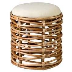 Rattan Ottoman, Rattan Stool, Ottoman Stool, Ottomans, Round Stool, Ottoman In Living Room, Dining Room, Wood Accents, Furniture Deals