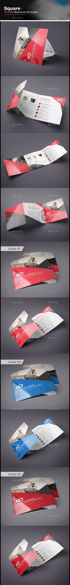 Square Tri fold Business Brochure Template Vector EPS, AI Illustrator #design Download: http://graphicriver.net/item/square-tri-fold-business-brochure/14071811?ref=ksioks