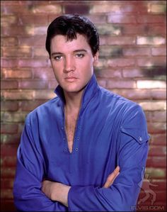 Elvis in blue