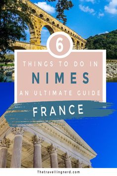 """Discover the top things to do in Nimes, France. Whether staying for a week, one day, or taking a weekend getaway, this travel guide to Nimes gives you everything you need to know. Dubbed the """"French Rome"""" thanks to its Roman ruins, you'll be able to visit the Arena of Nimes, Maison Carree, and the Jardin de La Fontaine to name a few. From Food to Photography, this beautiful town in the south of France is a must-visit hidden gem. #francetravel #france #nimes #history #ancienthistory #provence European Destination, European Travel, Travel Guides, Travel Tips, Nimes France, Paris Itinerary, Ultimate Travel, Best Cities, France Travel"""