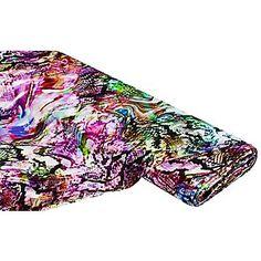 """Tissu jersey """"mélange de couleurs"""", multicolore   acheter en ligne sur buttinette - loisirs créatifs"""