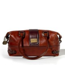 Isabella brown leather tote bag