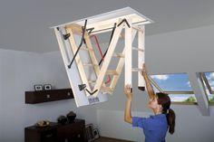 Portatif Çatı Merdiveni Portatif çatı merdivenleri çatı katına kolay çıkabilmek için kullanılan tavana gömülü, aşağıya açılan bir kapağa sahip, kapağı açınca kendi mekanızmaları sayesinde aşağı açılarak inen çatı merdiveni modelleri. Portatif çatı merdivenlerinin hemen hemen tamamı metal yada ahşap malzemeden üretilir.