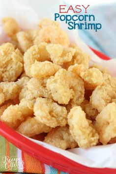 Easy Popcorn Fried Shrimp - This recipe has the key to getting that light, tender, and flaky crust on shrimp! Easy Popcorn Fried Shrimp - This recipe has the key to getting that light, tender, and flaky crust on shrimp! Fried Shrimp Recipes, Shrimp Dishes, Fish Recipes, Seafood Recipes, Appetizer Recipes, Appetizers, Copycat Recipes, Recipies, Korean Recipes