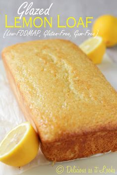 Low-FODMAP Glazed Lemon Loaf - Delicious as it Looks
