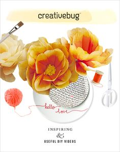 Inspiring And Useful DIY Videos From Creativebug - The Wedding Chicks