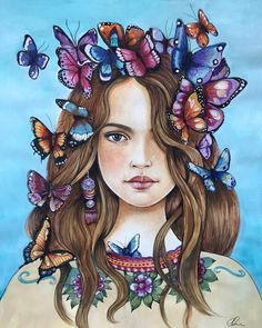 What you are attracted to is not random. Second PAYMENT OF THREE. I read this somewhere and it inspired me to paint this image. It symbolize to me transformation, becoming, a beautiful metamorphosis. Inspiring for girls becoming woman, or woman remembering their inner child. This is